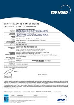 Certificado de Conformidade TNBR-26041