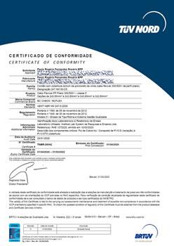 Certificado de Conformidade TNBR-26042