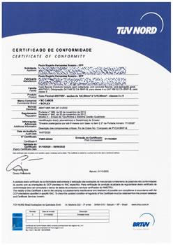 Certificado de Conformidade TNBR-26542