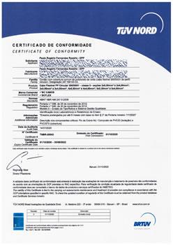 Certificado de Conformidade TNBR-26543
