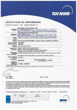 Certificado de Conformidade TNBR-26545